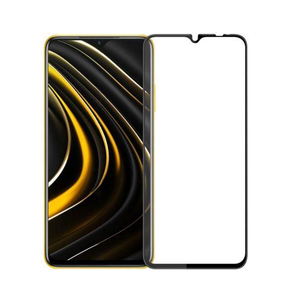Protection d'écran Xiaomi Poco M3 en verre trempé full size