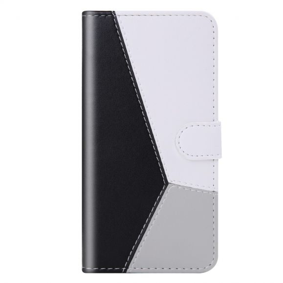 Housse Samsung Galaxy M11 Simili Cuir Tricolore Coutures