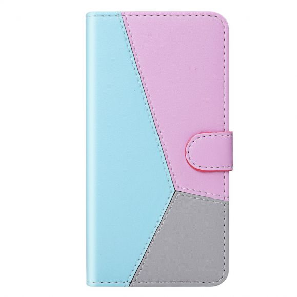 Housse Huawei P Smart 2021 Simili Cuir Tricolore Coutures