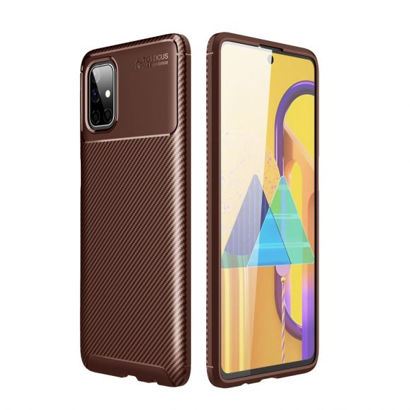Coque Samsung Galaxy M51 effet fibre de carbone