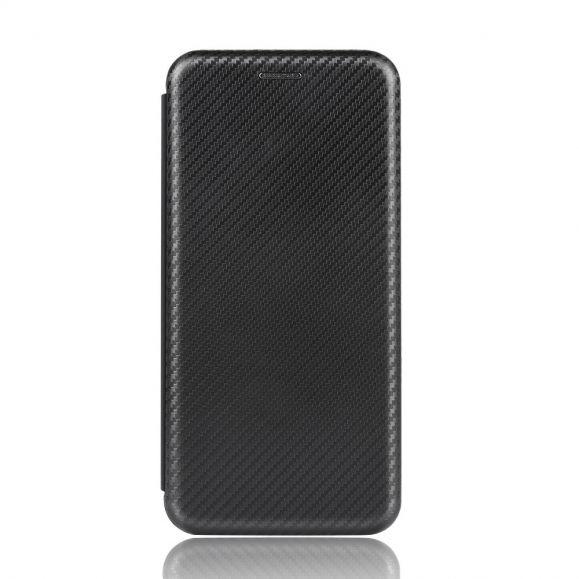 Housse iPhone 12 Pro Max Simili Cuir Style Fibre de Carbone