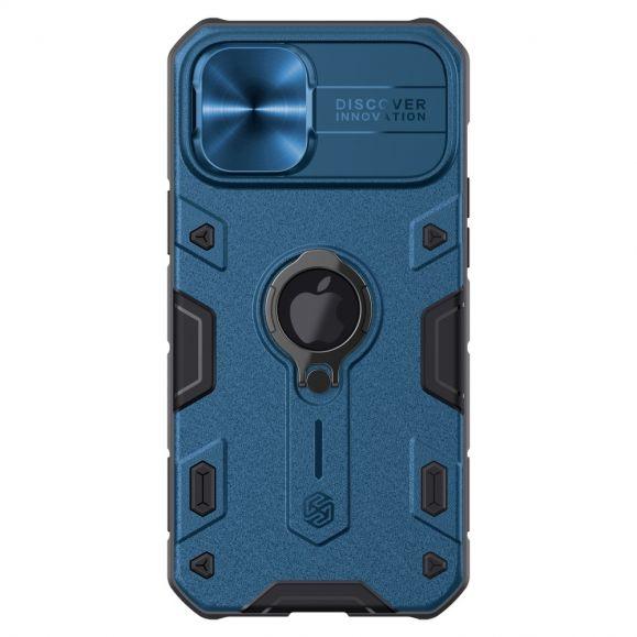 Coque iPhone 12 Pro Max Armor Case avec cache objectif - Bleu