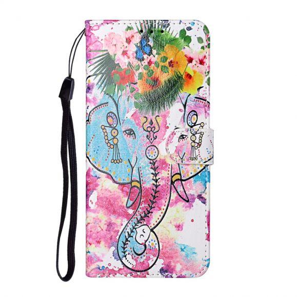 Housse Samsung Galaxy A42 5G Éléphant tropical