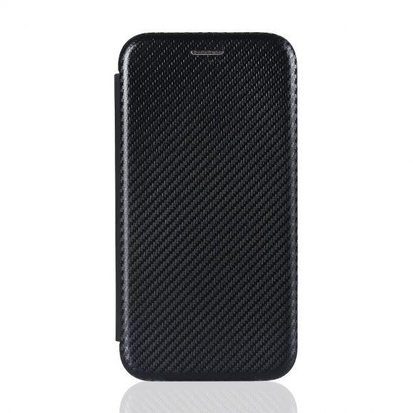Housse Samsung Galaxy M51 Simili Cuir Style Fibre de Carbone