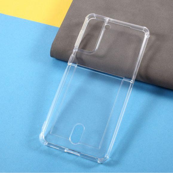 Coque Silicone Samsung Galaxy S21 Plus Transparente Porte Carte