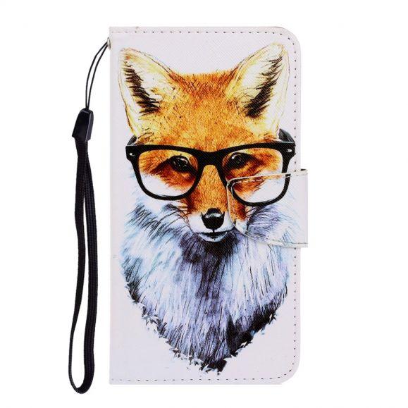Housse Samsung Galaxy A12 Renard à lunettes