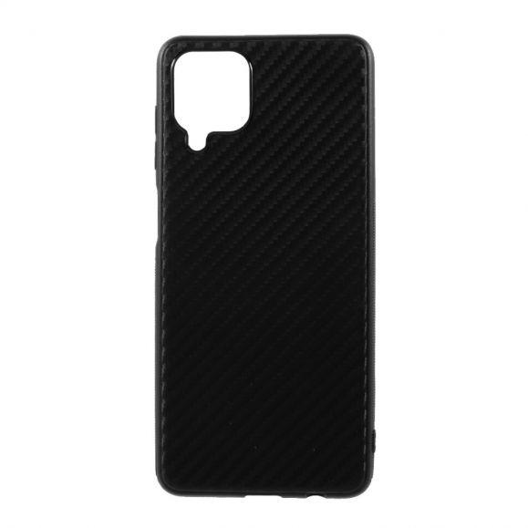 Coque Samsung Galaxy A12 revêtement fibre de carbone