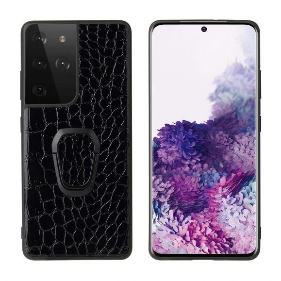Coque Samsung Galaxy S21 Ultra Ring effet croco