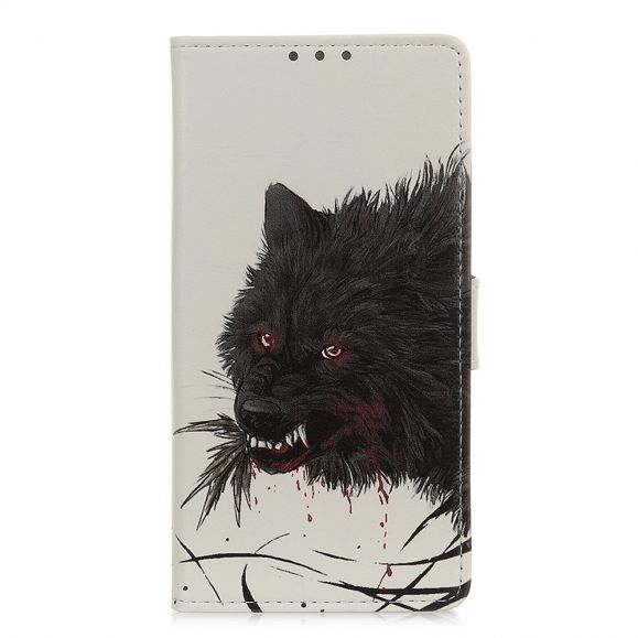 Housse Xiaomi Redmi Note 9T 5G Loup noir