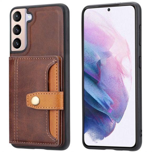Coque Samsung Galaxy S21 Plus 5G effet cuir porte cartes