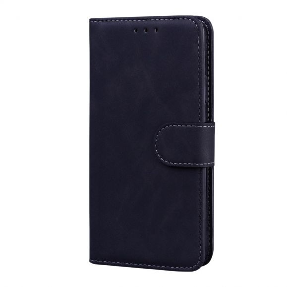 Housse portefeuille OnePlus 9 Pro coutures effet cuir mat