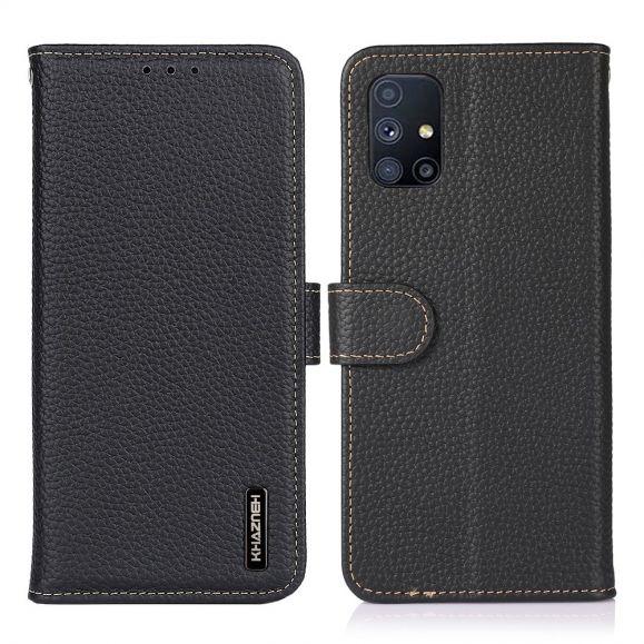 Housse Samsung Galaxy M51 Cuir KHAZNEH