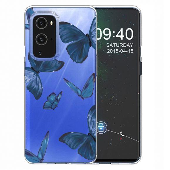 Coque OnePlus 9 Pro Papillons Bleus