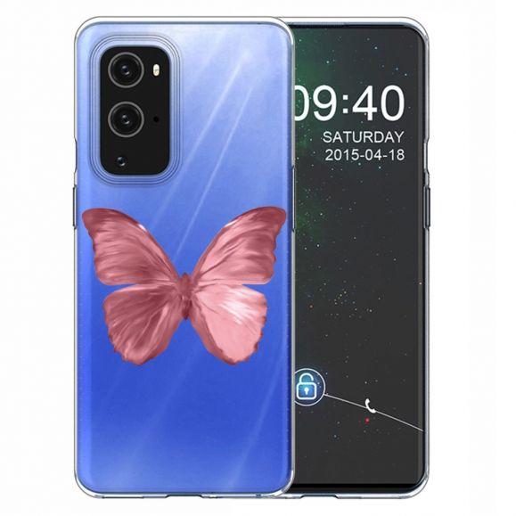 Coque OnePlus 9 Pro Papillon Rose