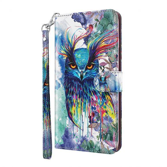 Housse Samsung Galaxy A72 5G / A72 4G hibou aquarelle