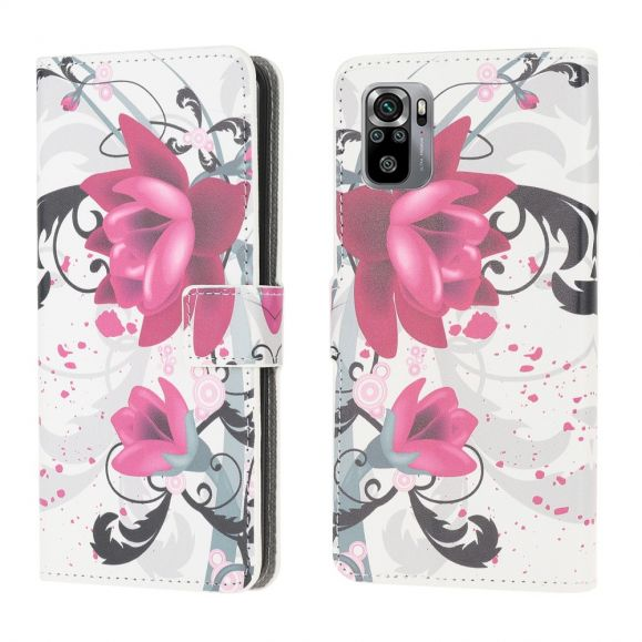 Housse Xiaomi Redmi Note 10 Fleurs de lotus