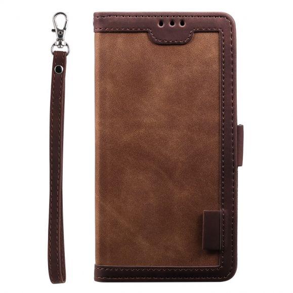 Housse Samsung Galaxy A12 Vintage Pocket Portefeuille