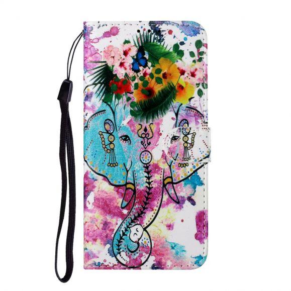 Housse Samsung Galaxy A12 Éléphant tropical