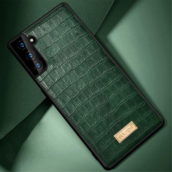 Coque Samsung Galaxy S21 Plus 5G SULADA Croco Effet Cuir