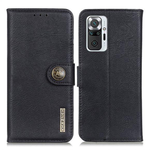 Housse Xiaomi Redmi Note 10 Pro KHAZNEH Effet Cuir Porte Cartes
