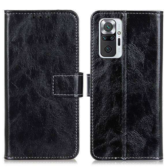 Housse Xiaomi Redmi Note 10 Pro effet cuir luxueux coutures