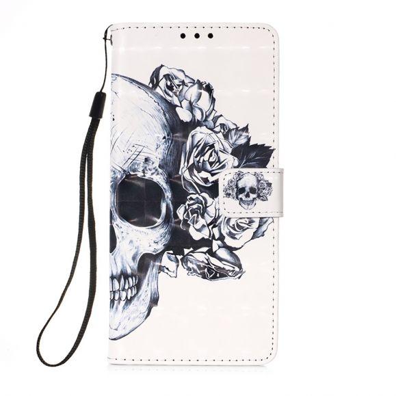Housse Samsung Galaxy S21 Plus 5G Tête de mort fleurie