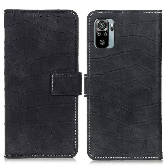 Housse Xiaomi Redmi Note 10 / Note 10S Simili Cuir Aspect Croco