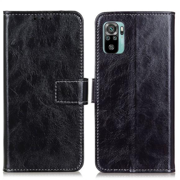 Housse Xiaomi Redmi Note 10 / Note 10S effet cuir luxueux coutures