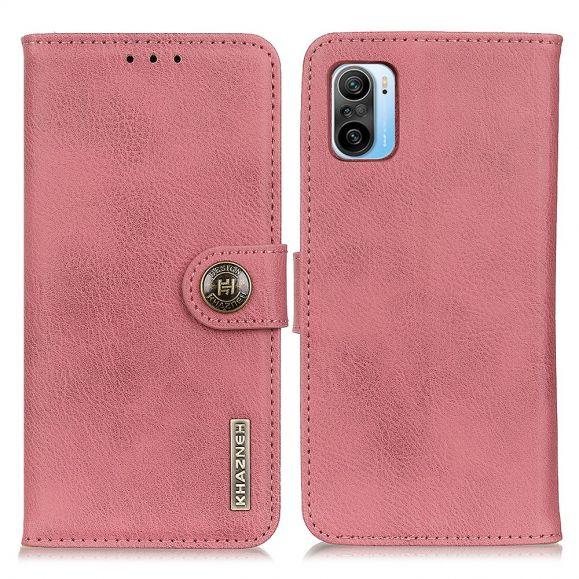 Housse Xiaomi Mi 11i / Poco F3 KHAZNEH Effet Cuir Porte Cartes