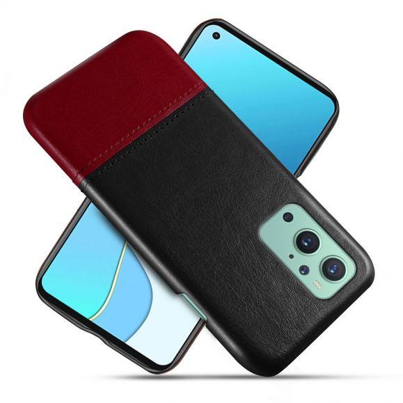 Coque OnePlus 9 Effet Cuir Bicolore