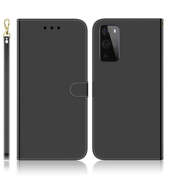 Housse OnePlus 9 Pro simili cuir effet miroir