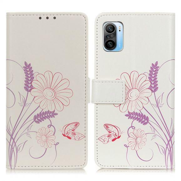 Housse Xiaomi Mi 11i / Poco F3 Illustration Fleurs et Papillon