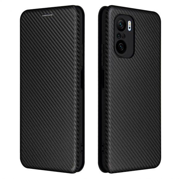 Housse Xiaomi Mi 11i / Poco F3 Simili Cuir Style Fibre de Carbone
