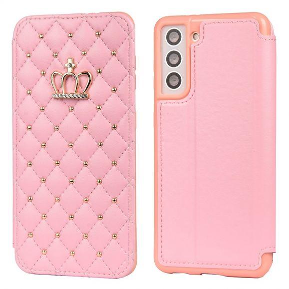 Housse Samsung Galaxy S21 Plus 5G Luxury Effet Cuir Matelassé