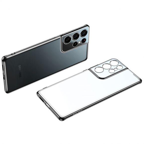 Coque Samsung Galaxy S21 Ultra 5G Transparente Contours Métallisés
