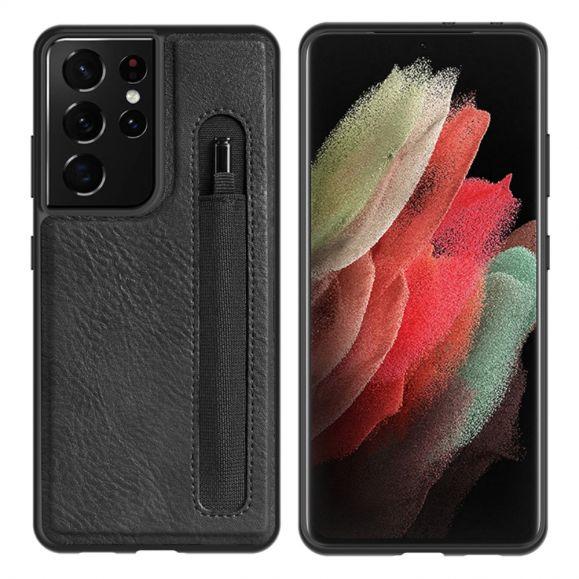 Coque Samsung Galaxy S21 Ultra 5G Aoge Series Effet Cuir