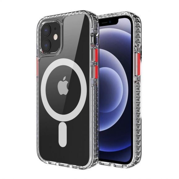 Coque iPhone 12 Pro Max MagSafe Transparent avec Cercle Magnétique