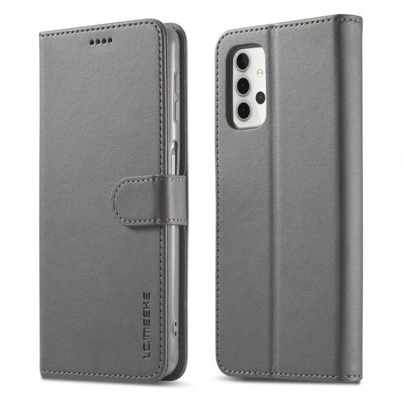 Housse Samsung Galaxy A32 4G LC.IMEEKE effet cuir portefeuille