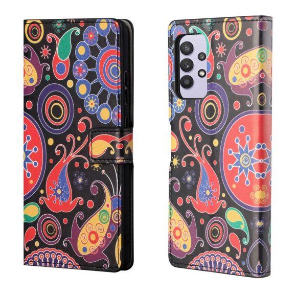 Housse Samsung Galaxy A32 4G paisley fleur