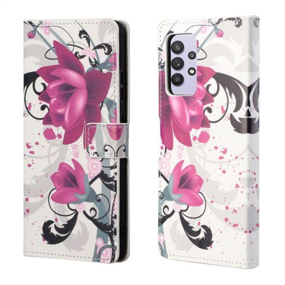 Housse Samsung Galaxy A32 4G Fleurs de lotus