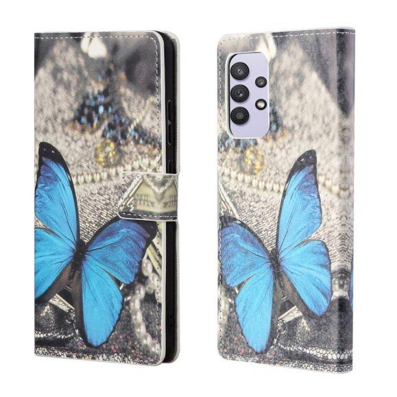 Housse Samsung Galaxy A32 4G Papillons Bleus