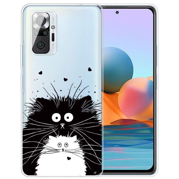 Coque Xiaomi Redmi Note 10 Pro chats noir et blanc