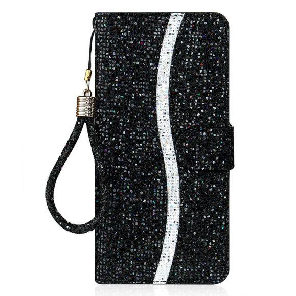 Housse Samsung Galaxy A12 Glitter Porte Cartes