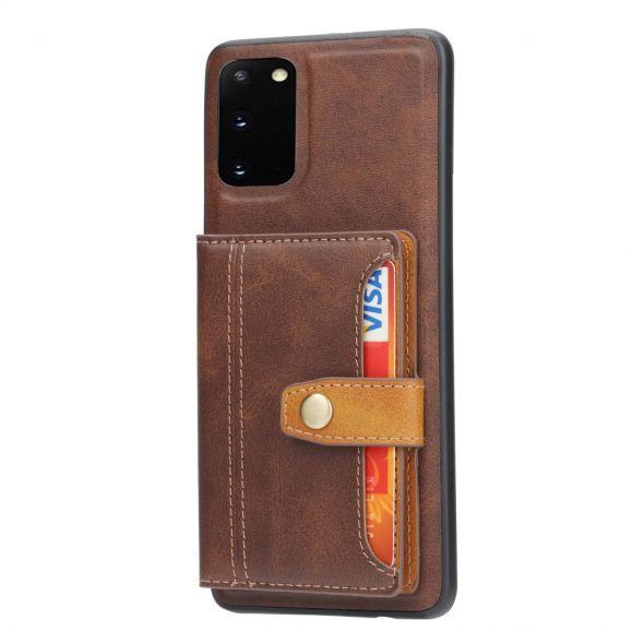 Coque Samsung Galaxy S20 FE effet cuir portefeuille