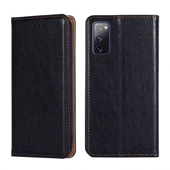 Housse Flip cover Samsung Galaxy S20 FE PURE simili cuir