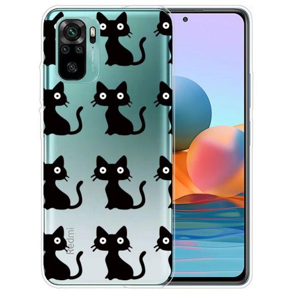 Coque Xiaomi Redmi Note 10 Chats Noirs