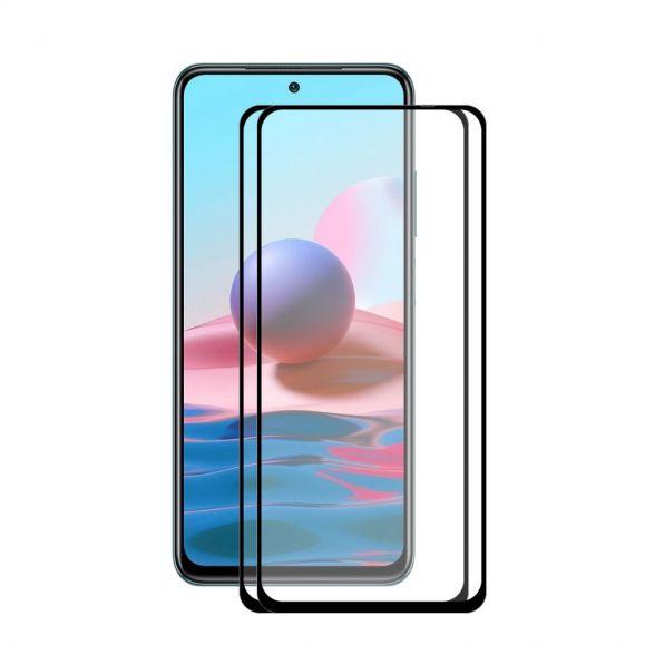 Protections d'écran Xiaomi Redmi Note 10 / Note 10S en verre trempé Full Size (2 pièces)