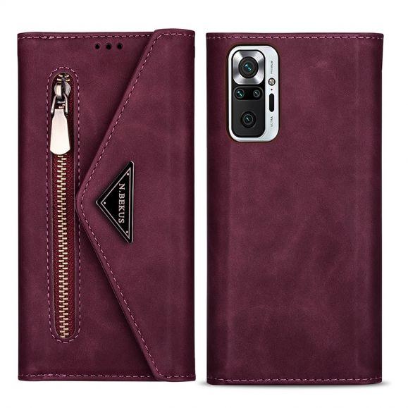 Housse Portefeuille Xiaomi Redmi Note 10 Pro Effet Cuir N.BEKUS