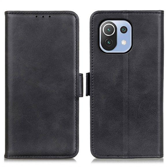 Étui Xiaomi Mi 11 Lite / Mi 11 Lite 5G portefeuille revêtement cuir mat