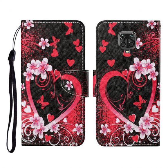 Housse Xiaomi Redmi Note 9 Pro Coeur Fleuri